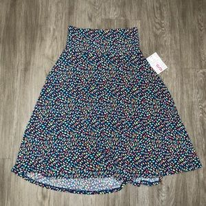 LulaRoe Blue Patterned Azure Skirt Size S